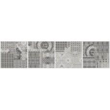 Декор 20*20 Inserto Pattern Grey