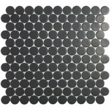 Мозаика 30,1*31,3 Matt Black Circle 6108C