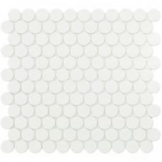 Мозаика 30,1*31,3 Matt White Circle 6106C